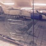 Mazda 6 promackle dvere o sloup v garazi Torera.cz