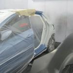 vozidlo po vymene LZ boku pripravene na lakovani auto pred lakem Torera.cz